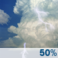 Monday: Chance Showers And Thunderstorms
